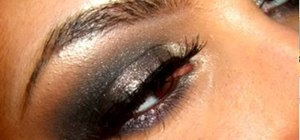 Create an edgy rocker gunmetal gray eye makeup look