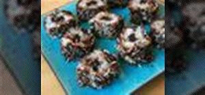 Make a coconut chocolate dessert sushi roll
