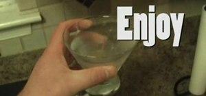 Mix a vodka martini cocktail