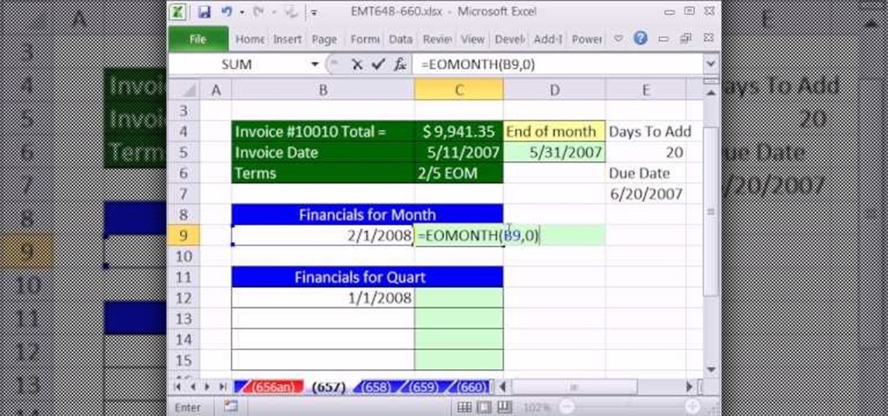 What Is An Invoice For Pdf How To Calculate Invoice Due Dates With Eomonth In Ms Excel  Definition Of Invoice In Accounting Excel with How To Creat An Invoice Word How To Calculate Invoice Due Dates With Eomonth In Ms Excel  Microsoft  Office  Wonderhowto Tax Invoice Proforma Pdf