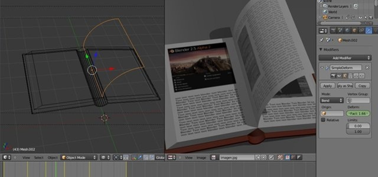 How to Create a 3D page flip animation with Blender « Software Tips
