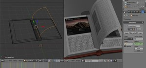 Create a 3D page flip animation with Blender