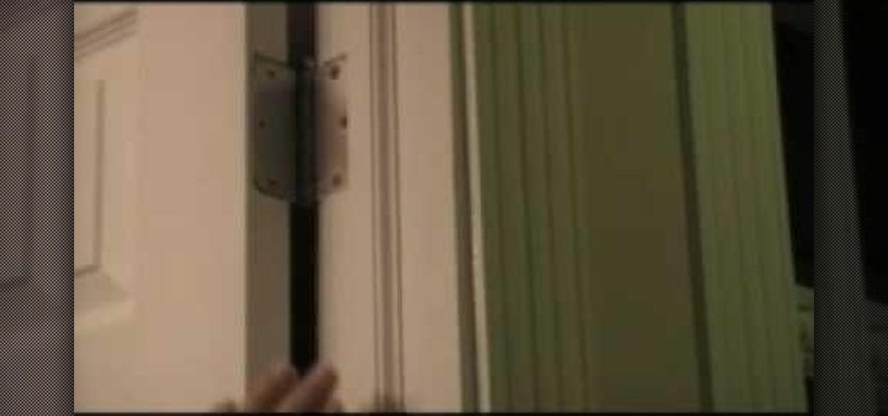 how to fix a squeaky door in seconds construction repair. Black Bedroom Furniture Sets. Home Design Ideas