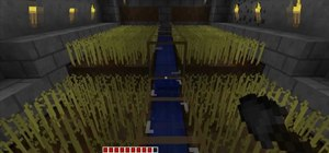 Build an automatic wheat farm in Minecraft
