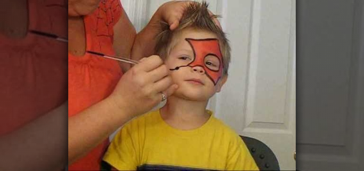 how to face paint an easy spiderman design kids