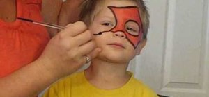 Face paint an easy Spiderman design