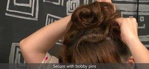 Create a super feminine high and curly Japanese bun