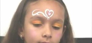 "Apply ""My Little Princess"" face paint design"