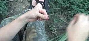 Make wilderness survival cordage