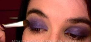 Create a rich purple eyes makeup style in 5 minutes