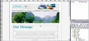 Add Flash text to a webpage using Dreamweaver