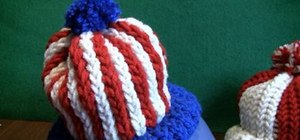 Create a Fourth of July blue pom pom
