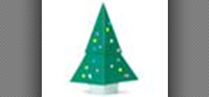 Origami a Christmas tree Japanese style