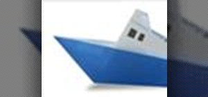 Origami a steamship Japanese style
