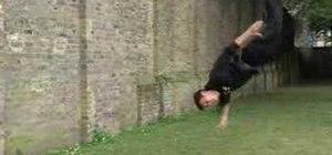 Do an aerial flip