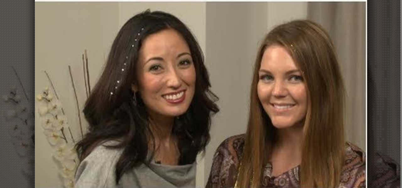 How To Make Your Hair Sparkle For The Holidays With Tinsel And Glitter Spray Hairstyling WonderHowTo