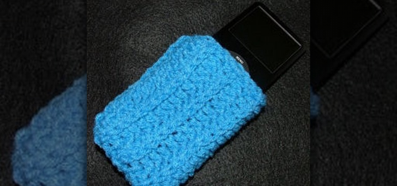 Knitting Pattern For Ipod Sock : How to Crochet an iPod sock   Knitting & Crochet :: WonderHowTo