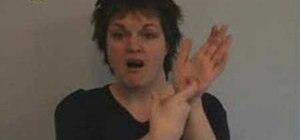 Use the British Sign Language alphabet
