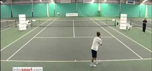Serve in tennis with David Lloyd