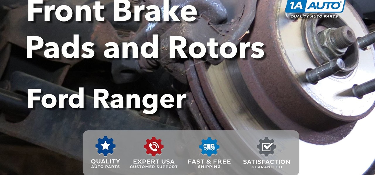 how to replace front brakes pads rotors on a 1995 02 ford ranger auto maintenance repairs. Black Bedroom Furniture Sets. Home Design Ideas