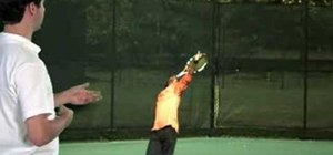 Practice your tennis serve swing