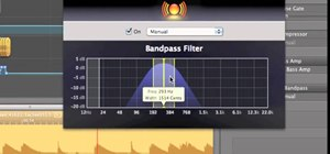 Make an instrumental beat in GarageBand using the AUBandpass filter