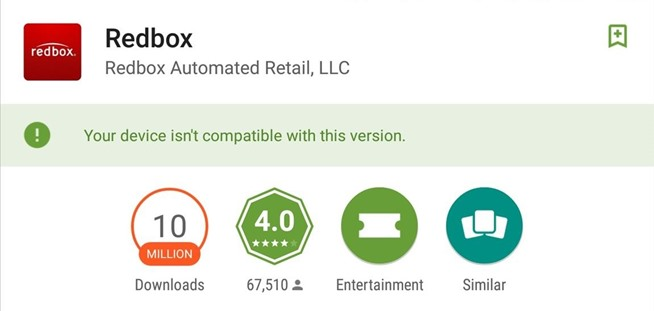 How to Get Redbox Working on Incompatible Android Devices