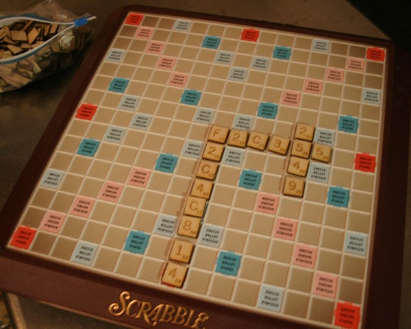 Hexidecimal Scrabble tiles
