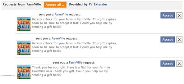 How to Accept and Return ALL FarmVille Gifts with One Click