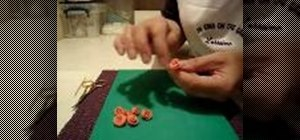 Make miniature frosting roses