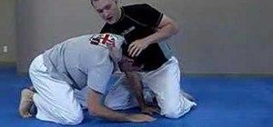 Do a Jiu Jitsu D'arce choke