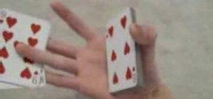 Perform a Thumb Cut Variation XCM card flourish