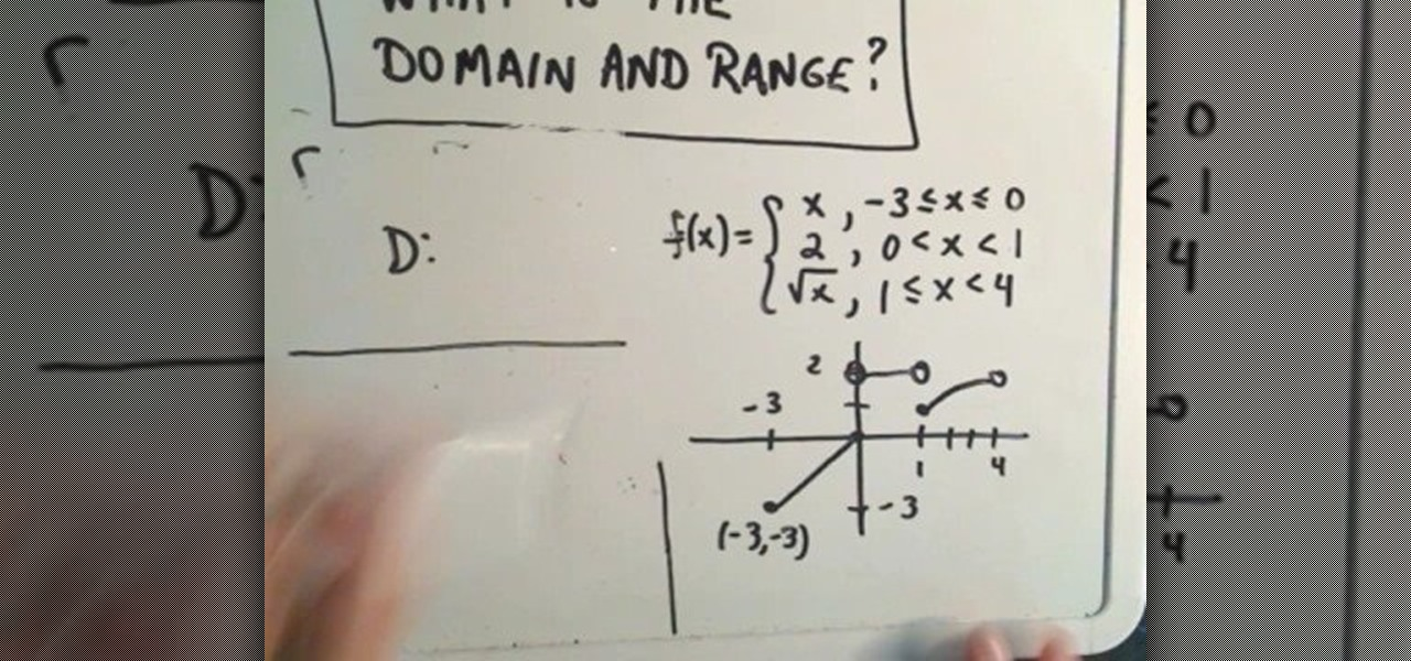 How to Figure out the domain & range of a piecewise function « Math