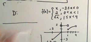 Figure out the domain & range of a piecewise function