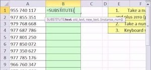 Remove spaces from numbers in Excel with the SUBSTITUTE function