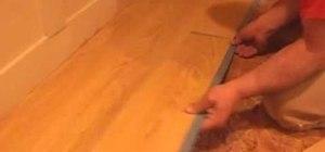Install a Trafficmaster Allure vinyl floor