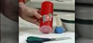 Apply embroidery to your candle