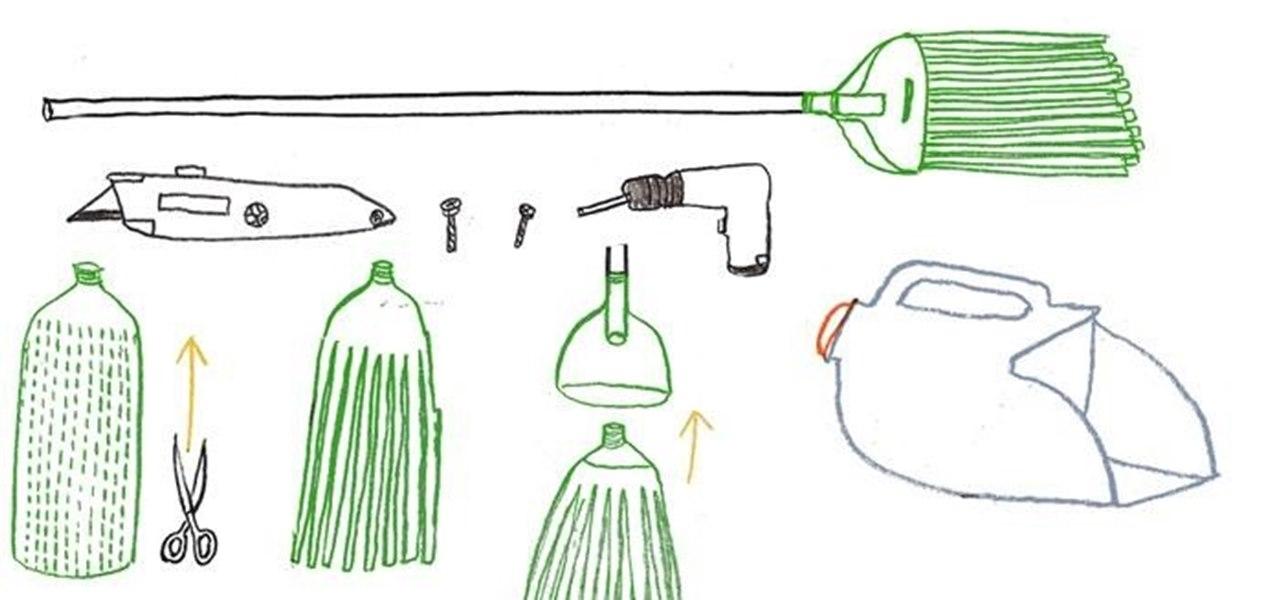 Make a Soda Bottle Broom and Milk Jug Dustpan
