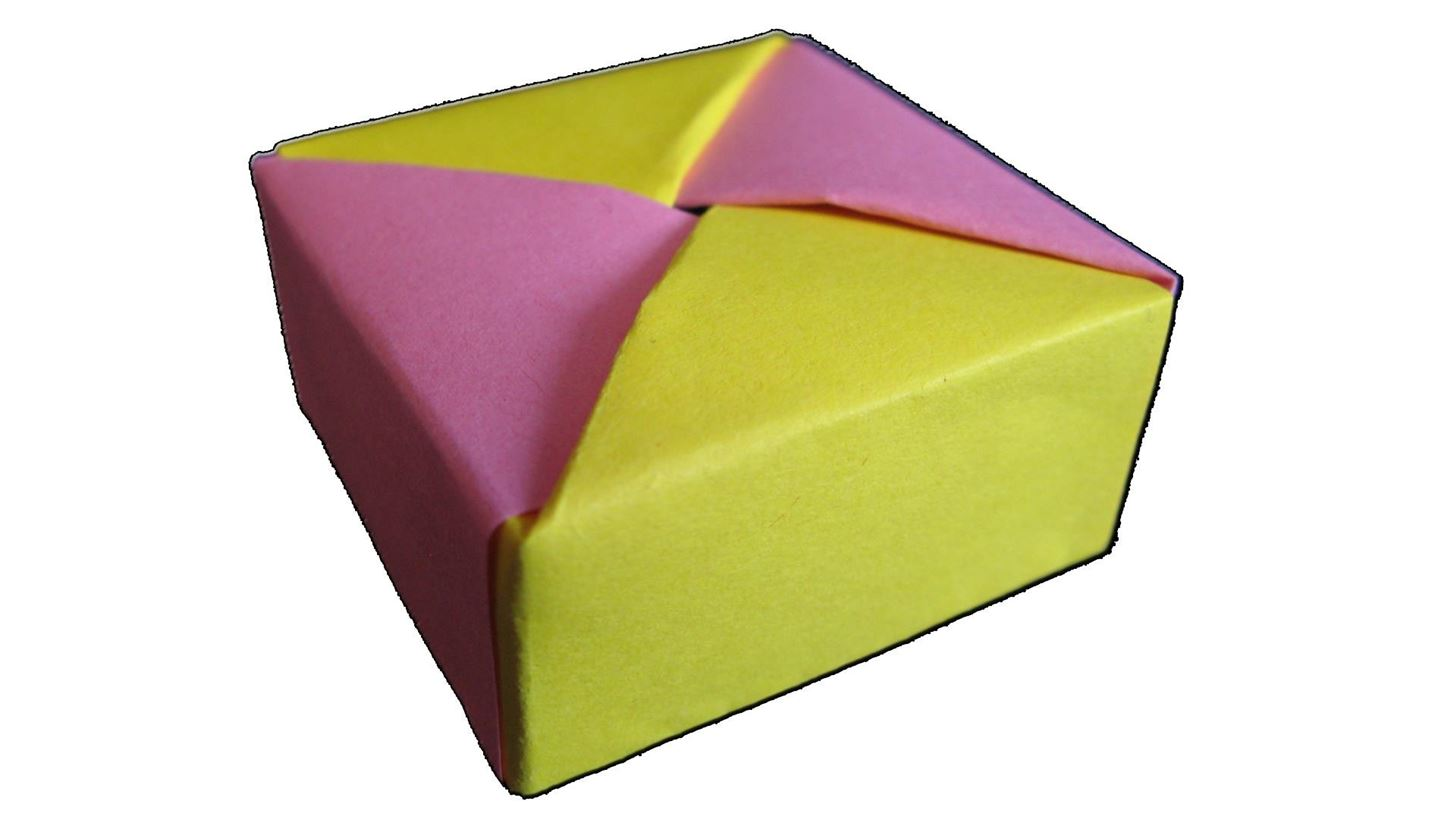 How to Make Origami Box with Lid