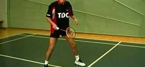 Move to backhand net in badminton