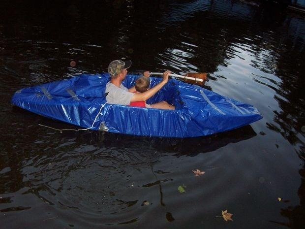 How to Build a Redneck Kayak Out of PVC and Duct Tape