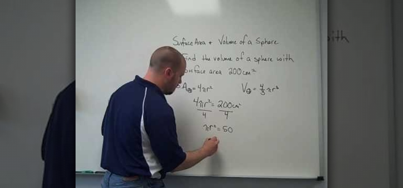 How to find surface area and volume of a sphere math wonderhowto ccuart Choice Image