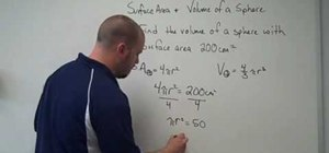 Find surface area and volume of a sphere