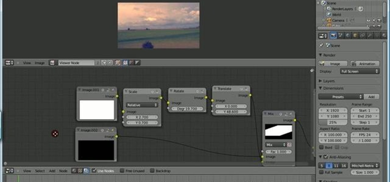 How to Create quick masks in the Blender compositing editor
