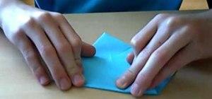 Fold a beautiful blue origami sun