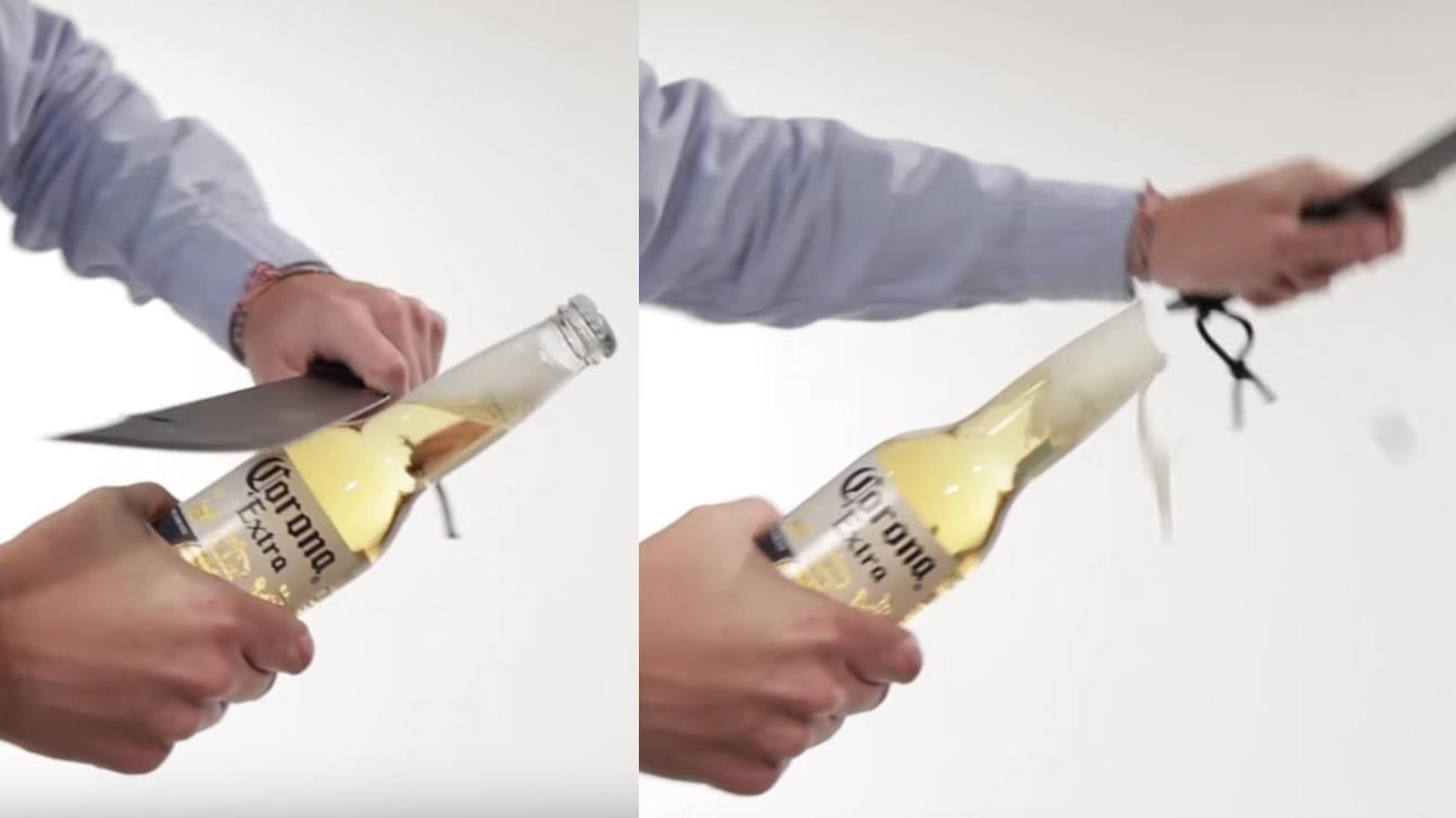 opening a wine bottle without an opener