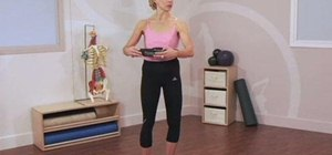 Perform a standing Pilates mat exercise routine