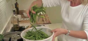 Cook Greek-style green beans with tomato