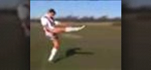 Do the perfect punt kick in rugby
