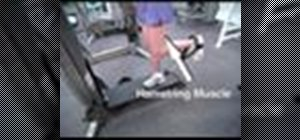 Do a standing hamstring curl